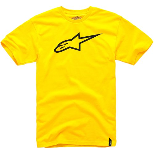 Alpinestars Mens Ageless Classic Short-Sleeve Shirt, Gold/Black, 2X-Small