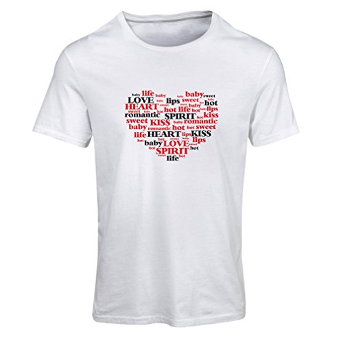 T shirts for women I love you quotes ,Valentine day gift (X-Large White Multi Color) (Diana Ross Wigs)