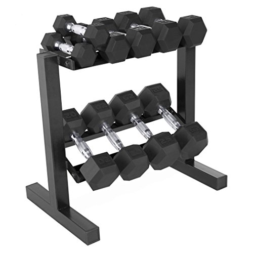 CAP 150 Pound Rubber Dumbbell Weight