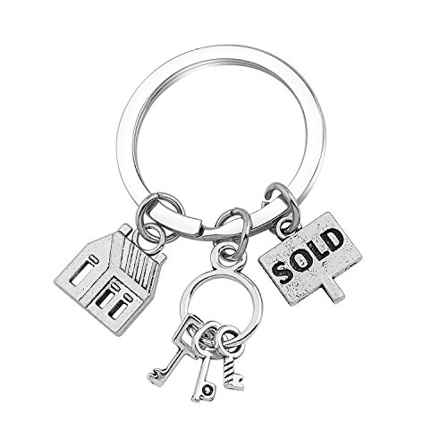 SEIRAA Real Estate Agent Keychain Realtor keychain Real Estate Broker Gift Realtor Gift for Women