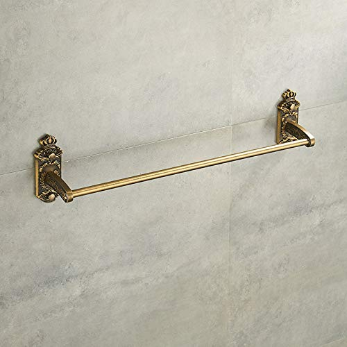 WEN-UD Nail Free Towel Holder Antique Brass Bathroom Towel Bars Towel Bathroom Accessories ABS-005