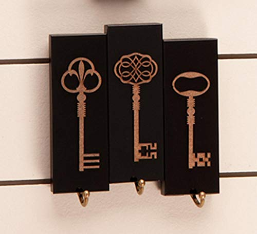 Porta chaves Keys - Preto - 3 chaves
