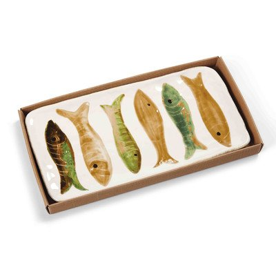 Mud Pie Lake Fish Hostess (Green Fish Platter)