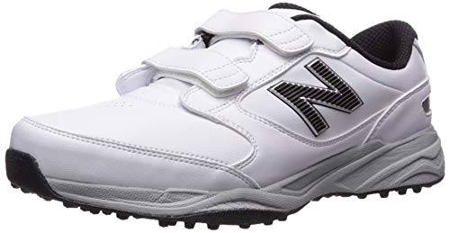 New Balance Men's CB'49 Hook and Loop Closure Waterproof Spikeless Comfort Golf Shoe, White, 10.5 D D US