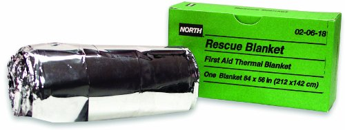 North by Honeywell 020618 Rescue Blanket, 56-Inch x 84-Inch, 1 per unit