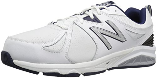 New Balance Men's mx857v2 Casual Comfort Training Shoe, White/Navy, 9.5 4E US