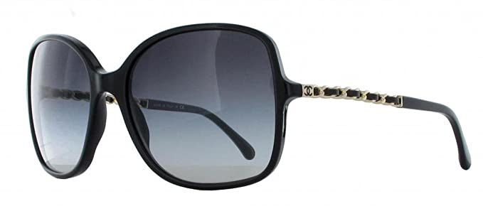 Gafas de Sol Chanel CH5210Q BLACK/GRAY GRADIENT: Amazon.es ...