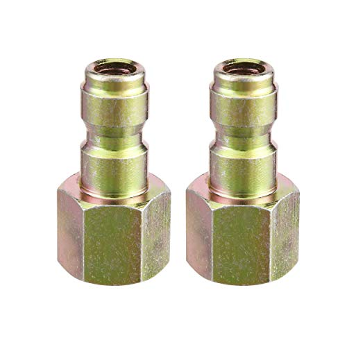 - Tool Daily Pressure Washer Coupler, Quick Connect Plug, 1/4 Inch Female NPT Fitting, 5000 PSI, 2-Pack