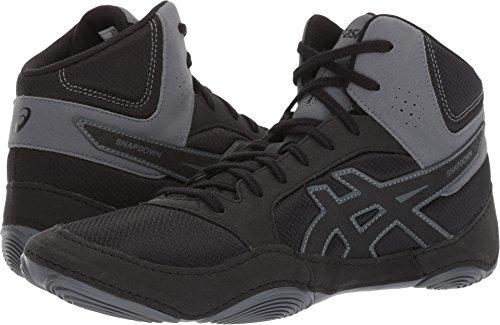 ASICS Mens Snapdown 2 Wrestling Shoe, Black/Carbon, 10 Medium US