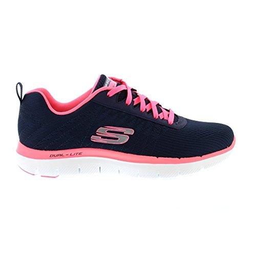 Skechers Sport Women's Flex Appeal 2.0 Fashion Sneaker, Navy/Hot Pink, 10 M US by Skechers Sport Women's (Image #2)