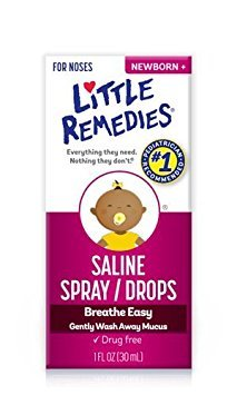 Little Remedies Little Noses Saline Spray/Drops, 1 Ounce, Pack of 4