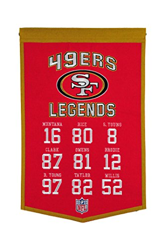Winning Streak NFL San Francisco 49Ers Legends Banner