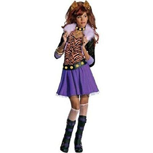 Clawdeen Wolf Costume For Girls (Monster High Clawdeen Wolf Costume Girl ~ Size Small (4-6))