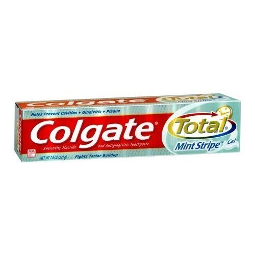 Colgate Total Stripe 6.0 Size 6z Toothpaste Anticavity Fluoride and Antigingivitis Mint Stripe,Pack of 4