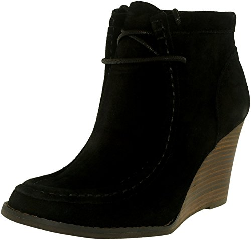 Lucky Women's LK-ysabel Ankle Bootie, Black, 9 M (Leather Wedge Boot)