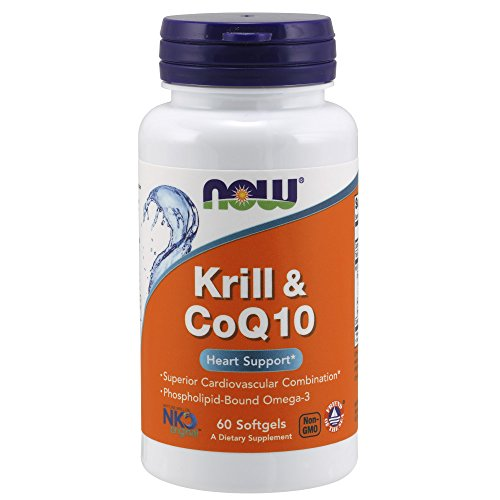 60 Gels Now Foods - NOW Krill & Coq10 Soft Gels, 60 Count