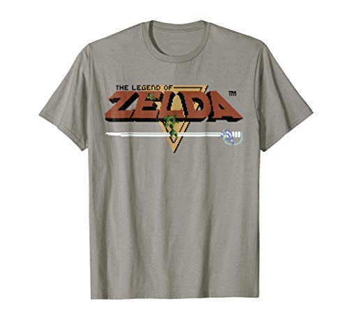 Nintendo Zelda Classic NES 8-Bit Logo T-Shirt, Adults or KIds
