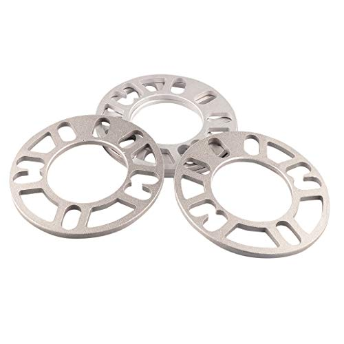 - 5mm Thickness Wheel Spacers for 98-120 Rims Wheel, Alloy Aluminum Unverisal Adapters for 4 Lug or 5 Lug Wheels Provide Desired Offset (Pack of 4)