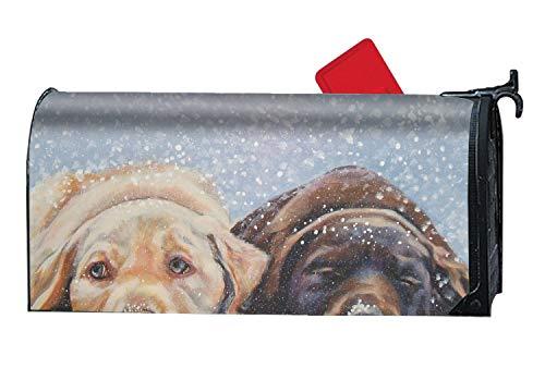 XW-FGF Decorative Magnetic Mailbox Cover Brown Pets Labrador Retriever Dog5 Mailbox Wrap