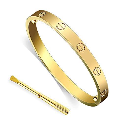 Titanium Steel Screws 3 Crystal Designs Bracelets LZX-VICTOR Womens Fashion Love Bracelet