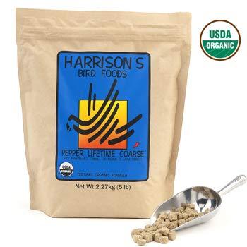 Harrison's Organic Pepper Lifetime Coarse Bird Pellets 25 Lbs