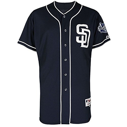 San Diego Padres Majestic Alternate Navy Authentic Jersey