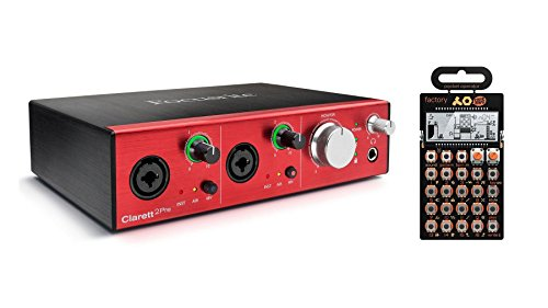 Focusrite Clarett 2Pre Thunderbolt Interface w/ PO-16 Factory Pocket Synth by Focusrite