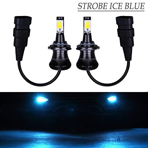 LED 9006 9005 HB4 HB3 Fog Lights Bulb Ice Blue 8000K Strobe Daytime Running Lights DRL Lamps for Trucks Cars Kit Plug Replacement Bulbs 12V 30W 2800LM Super Bright COB Chips 1 Year Warranty【1797】 Blue Driving Lamp Kit