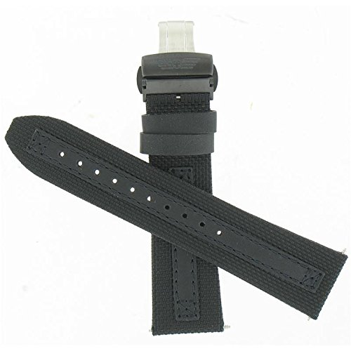 Swiss Army 25mm Black Perfomex Leather
