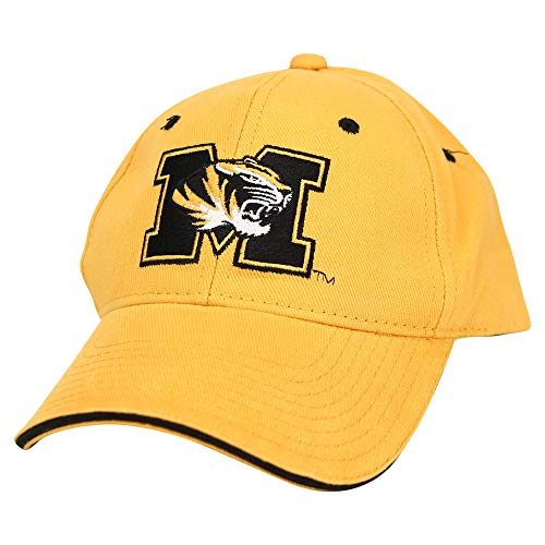 Captivating Headgear NCAA Adult Baseball Cap Adjustable Hat (Missouri Tigers (Classic))