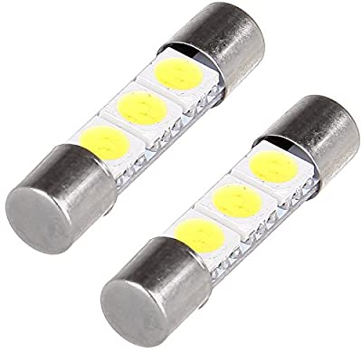 cciyu 6x White LED 28mm-31mm 5050 3SMD Fuse Vanity Mirror Light Bulb Replacement fit for 3056 3057 TS-14V1CP 6000k 28mm 29mm 30mm 31mm/ Replacement fit for Car Interior Sun Visor Vanity Mirror Light: Automotive