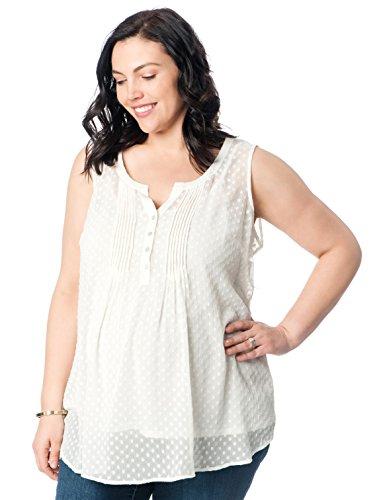 Motherhood Plus Size Sleeveless Pleated Maternity Top