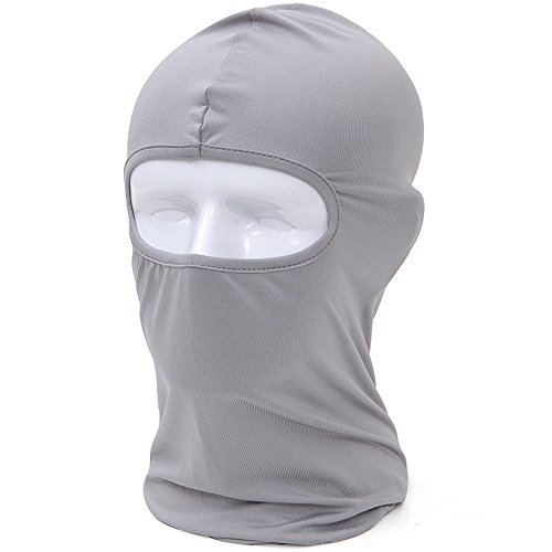 Funny Headgear (Angogo Candy Color Ultra Thin Ski Face Mask Under A Bike / Football Helmet / CS Headgear (light gray))