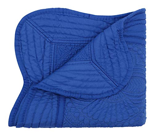 - Baby Toddler Blankets All Weather Lightweight Embossed Quilt, Royal Blue