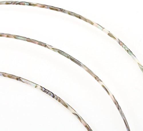 Colorful Celluloid Chitarra Legatura Filetto 1650 Lunghezza di Piedi Bianco Perla