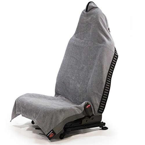 Gray Terry Cloth Covers (Orange Mud Transition Wrap Changing Towel & Car Seat Cover (Gray))