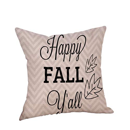 YOcheerful Happy Halloween Pillow Cases Pillow Cover Cushion Sofa Decor (K,Free Size) for $<!--$2.39-->