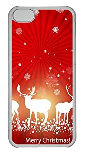 iPhone 5C Cases & Covers -Country Merry Christmas Custom PC Hard Case Cover for iPhone 5C ¨CTransparent