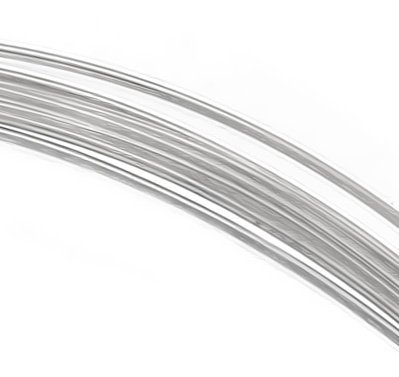 Silver Round Wire Hard Sterling - uGems Sterling Silver 24 Gauge Wire Half Hard Round (Qty=12 Feet)