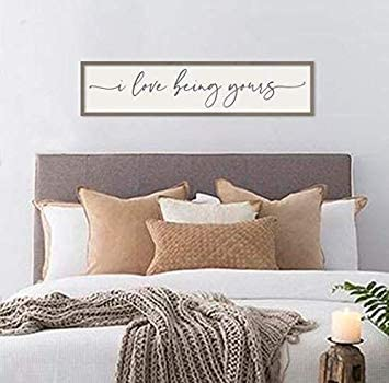 Himanjia I Love Being Yours Master Bedroom Signs Bedroom Wall Decor Farmhouse Decor Above Bed Sign Couples Bedroom Wall Decor Amazon Ca Generic