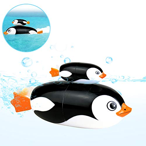 Fajiabao Bath Toys Pool Game Water Submarine Toy Penguin Bathtub Tub Toys Pool Party Favor Swimming for Kids Toddlers Child Babies Infant Boys and Girls 2 3 4 Year Old