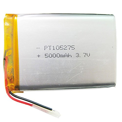 Ofeely 3.7V 5000mah 105275 Polymer Lithium Li-Po Rechargeable Battery For GPS PSP DVD PAD E-book tablet pc power bank video ()