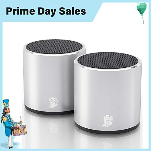 Dual Laptop Speakers - True Wireless Bluetooth Speakers - Latest Powerful Dual Twin Portable Mini Speaker Set w/Surround HD Sound - Instant Pairing & Built in Mic for HandsFree Calls for Home, Outdoors, Travel by HeadSound