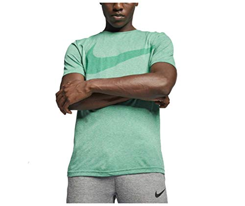 Nike Legend Short Sleeve Tee (Green Strike/Forrest Heather, X-Large)
