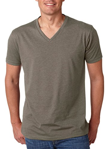 Next Level Apparel 6240 Mens CVC V-Neck Tee Warm Gray Small