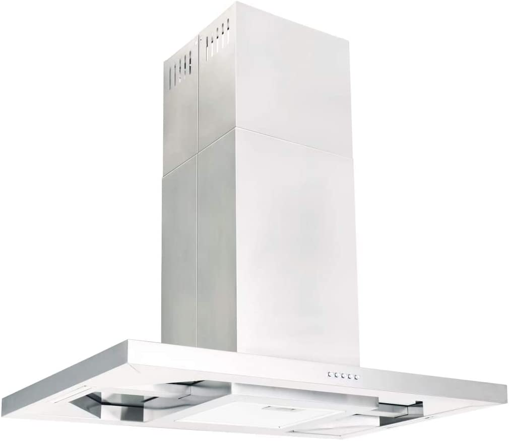 Nishore Campana Extractora Acero Inoxidable de Techo 756 m³/h con Luces LED Plateado 90 x 54 x (56-108) cm: Amazon.es: Hogar
