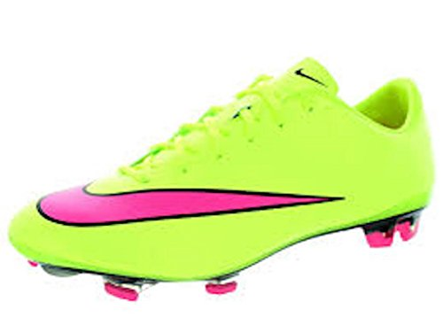 NIKE Men's Mercurial Veloce II Fg Soccer Cleat (11 D(M) US, Volt Hyper Pink Black 760)