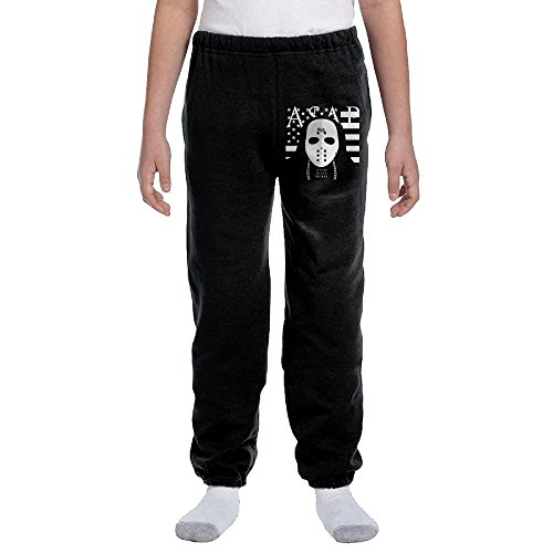 Price comparison product image Kelmo Youth Boy Girl Sweatpants Asap Rocky Workout Pants Black L