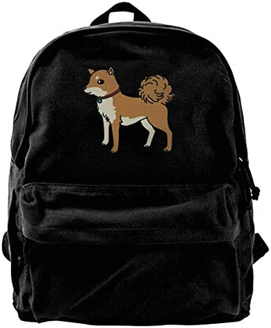 Rucksäcke, Daypacks,Taschen, Unisex Classic Canvas Backpack Bell Dog Unique Print Style,Fits 14 Inch Laptop,Durable,Black