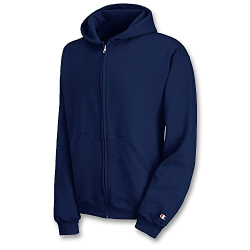 Champion Double Dry Hooded Jacket - Champion Double Dry Action Fleece Full Zip Hood (S890) Navy, M